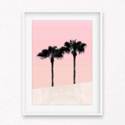 Palms on Pink Wall Art Print