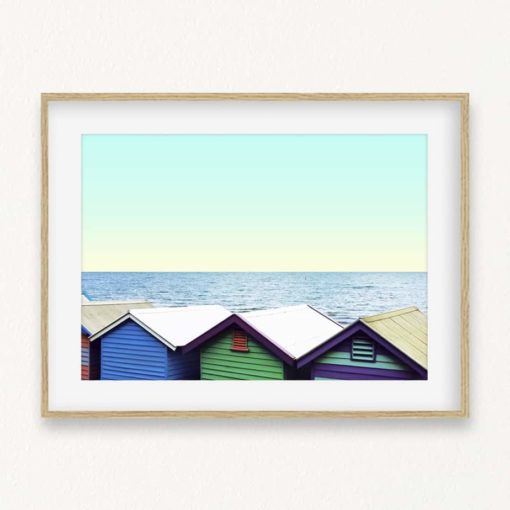 Beach Boxes Wall Art Print