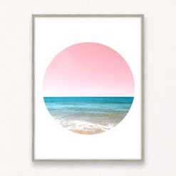 Beach Circle Wall Art Print