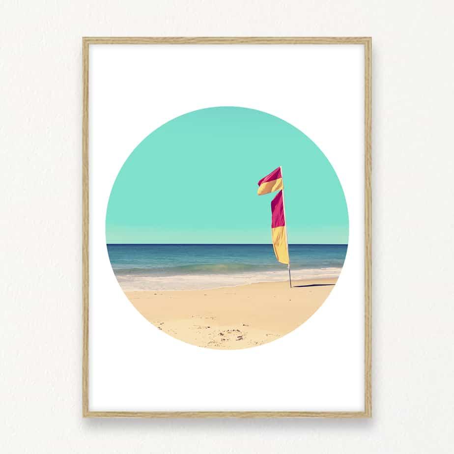 Beach Circle II Wall Art Print