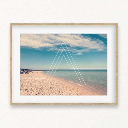 Beach Triangles Wall Art Print