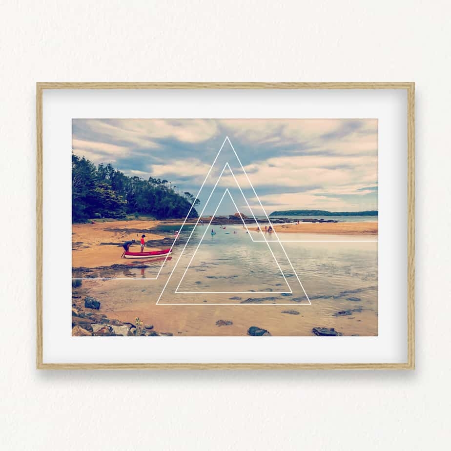 Beach Triangles II Wall Art Print