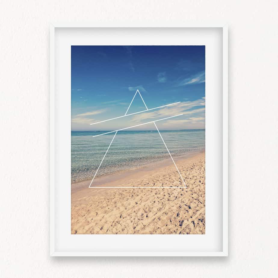Beach Triangles III Wall Art Print