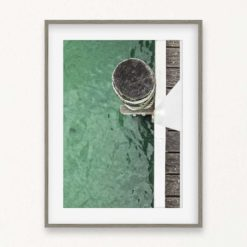 Bollard on Pier Wall Art Print