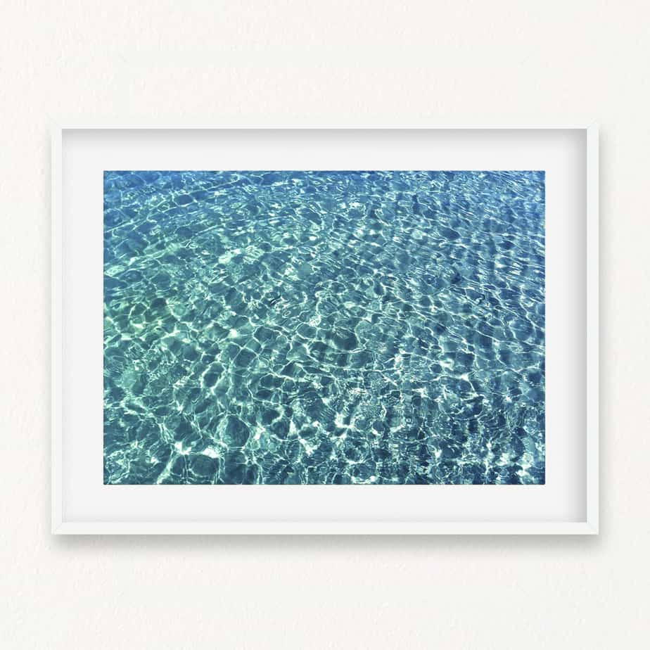 Clear Water Blue Wall Art Print