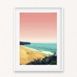 A Day At The Beach Wall Art Print