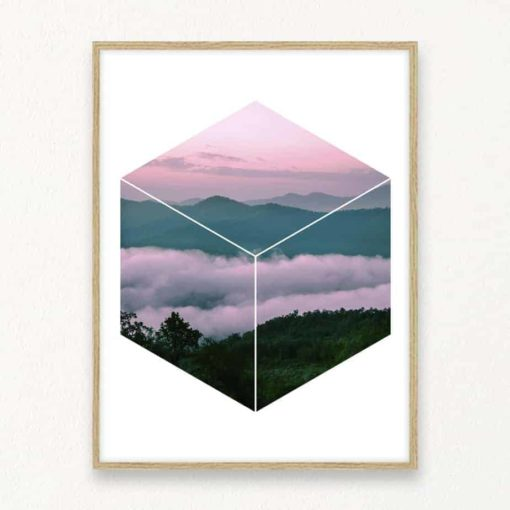 Mountain Hex Wall Art Print