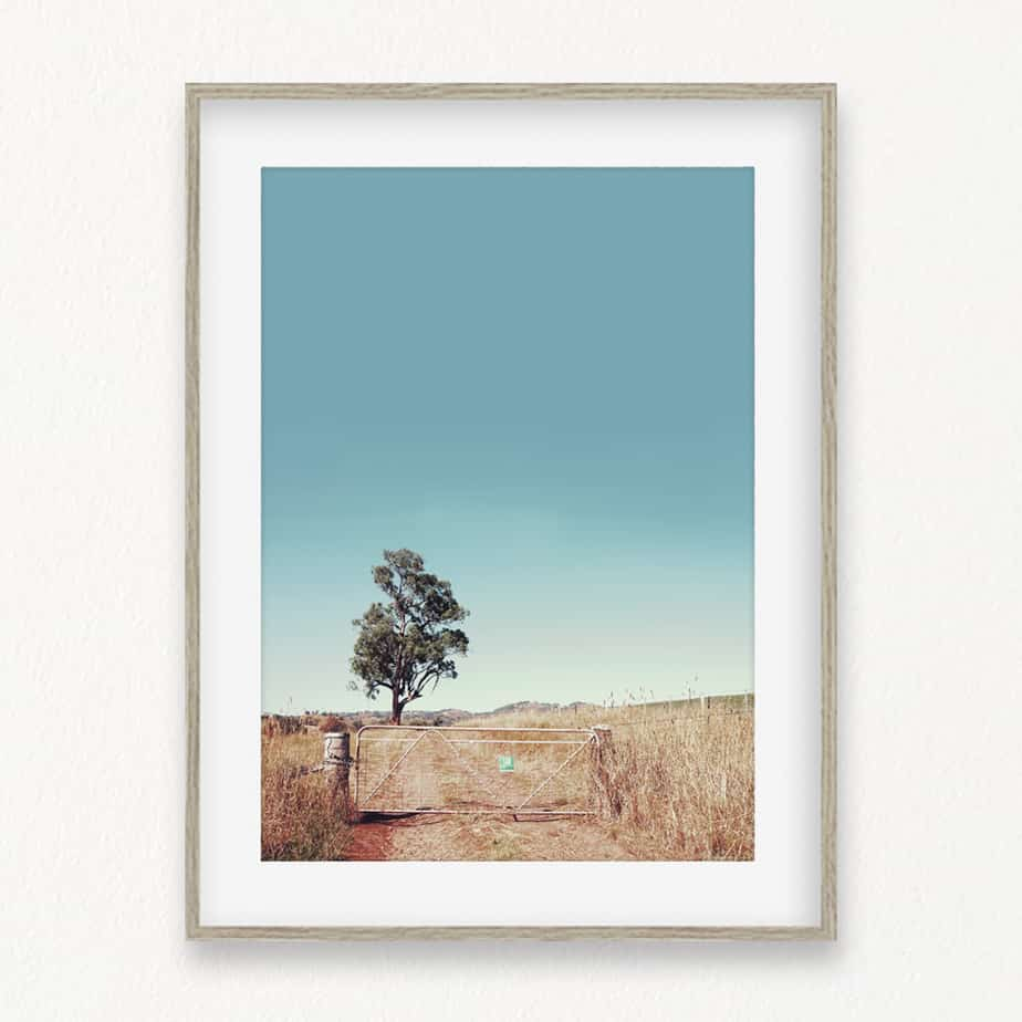 Outback Gate Wall Art Print