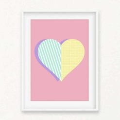 Pattern Heart Wall Art Print