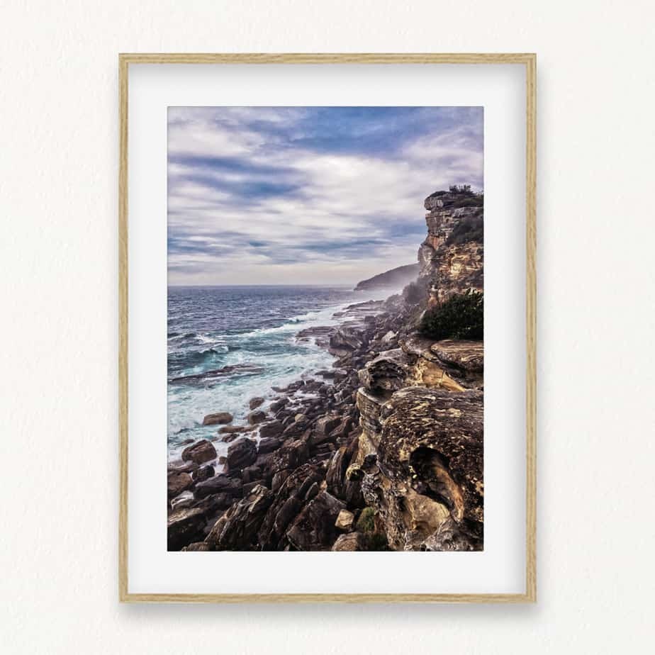 Rocky Cliffs Wall Art Print