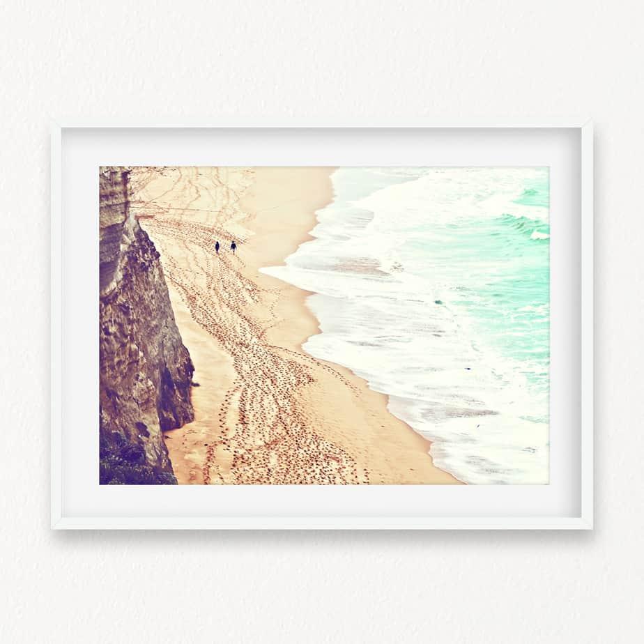 A Walk in the Sand Wall Art Print