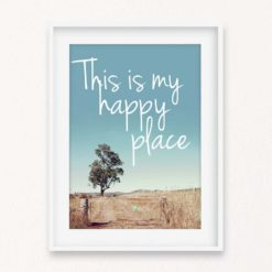 This Is My Happy Place Quote Wall Art