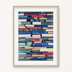 Stack of Books Wall Art Print