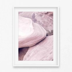 Pale Rocks Wall Art Print