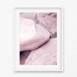 Pale Rocks Wall Art Print