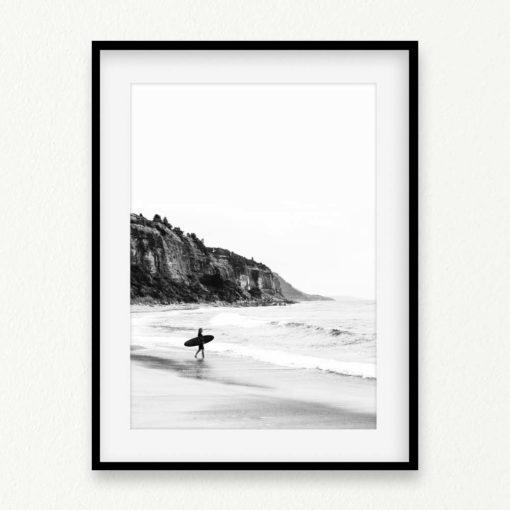 Surfer Heads Out II Wall Art Print