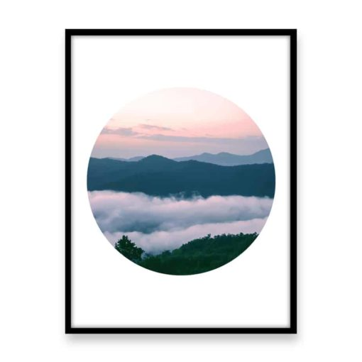 Mountain Circle Wall Art Print