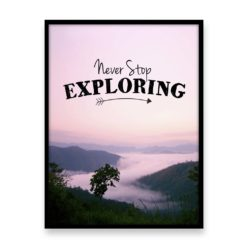 Never Stop Exploring Quote Wall Art Print