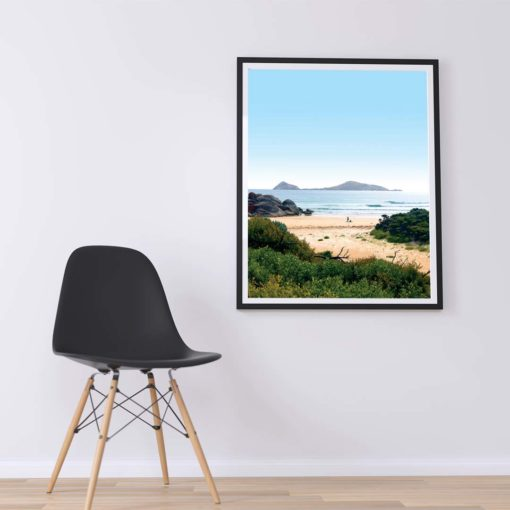 Waiting for the Waves Wall Art Print