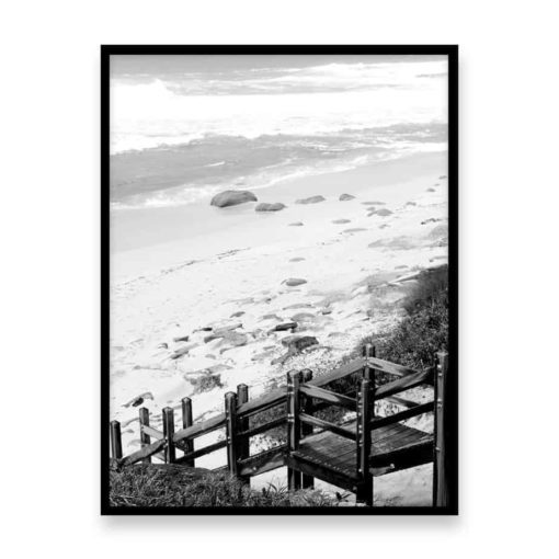 To The Beach Wall Art Print