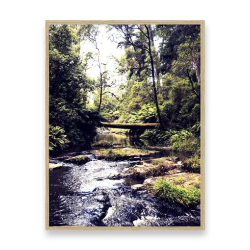 River Crossing Wall Art Print