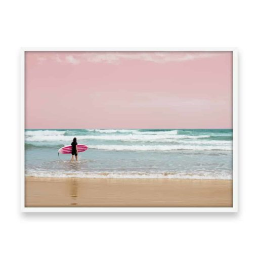 Surfer Heads Out III Wall Art Print
