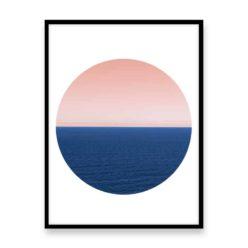 Endless Ocean Circle Wall Art Print
