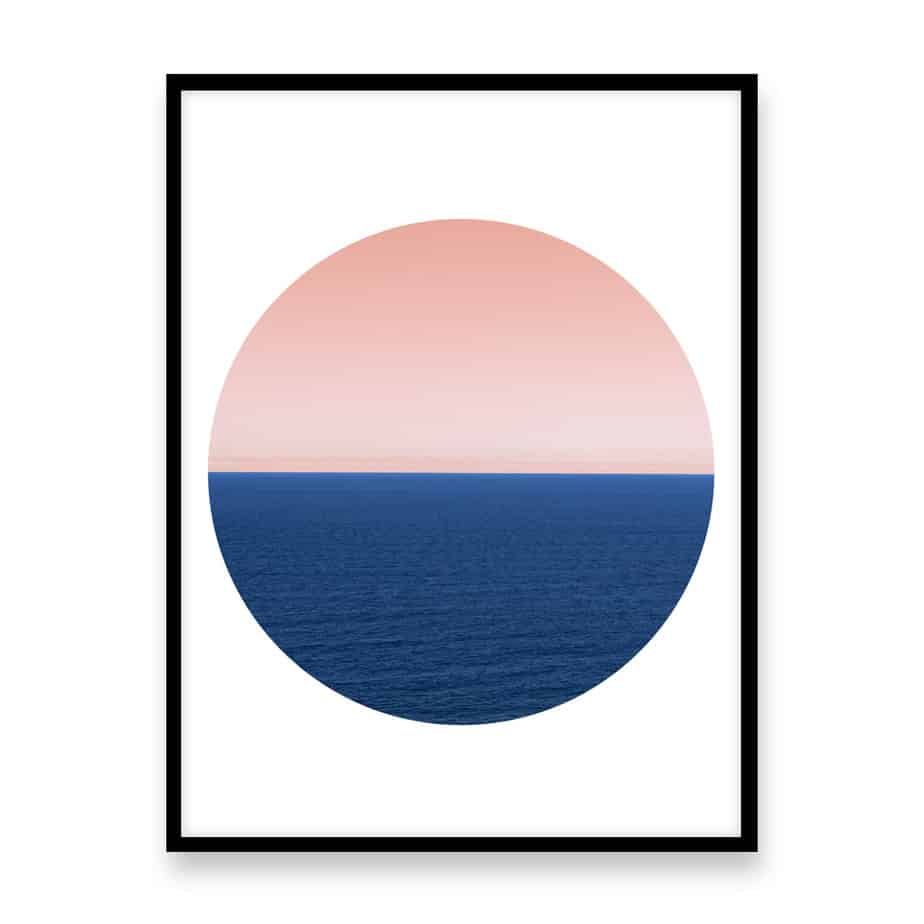 Endless Ocean Circle Wall Art Print