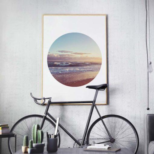Rough Waters Circle Wall Art Print