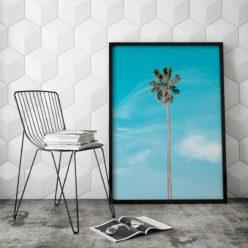 Lone Palm Wall Art Print