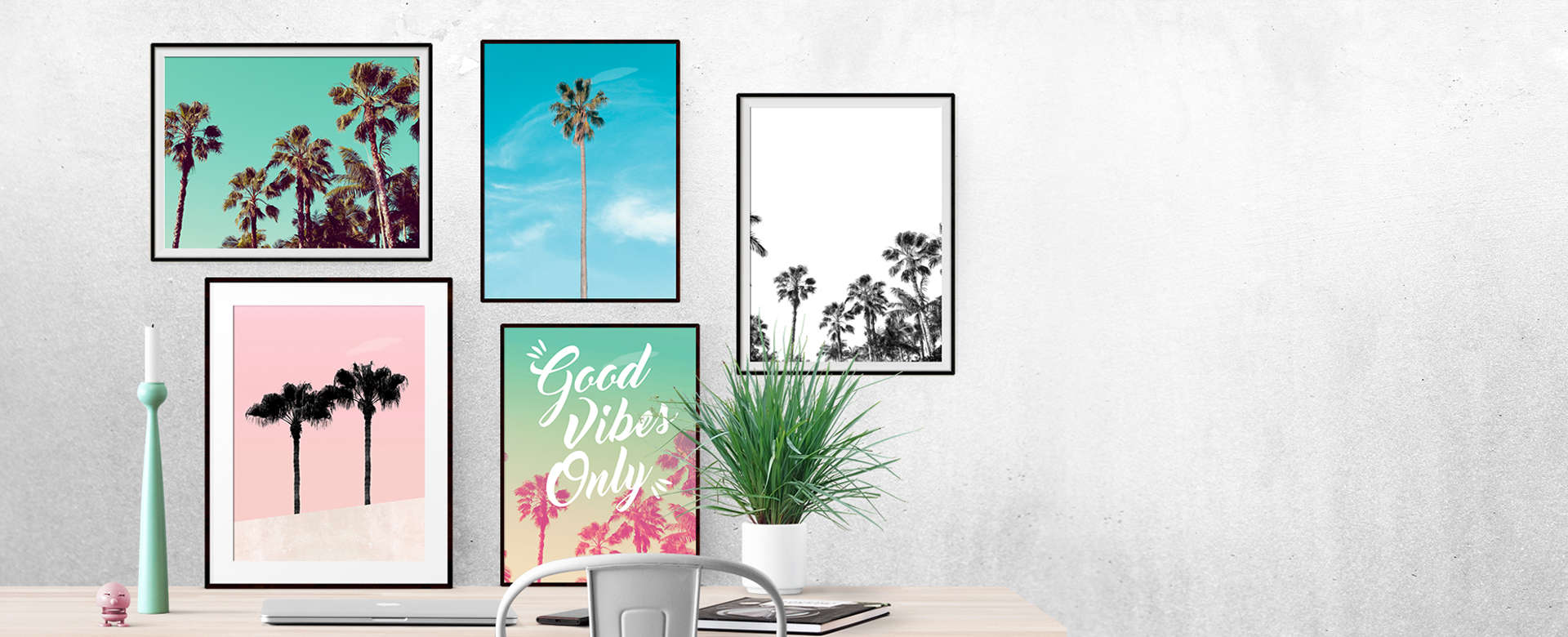 framed palm trees collection