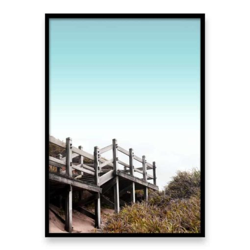 Beach Steps Wall Art Print
