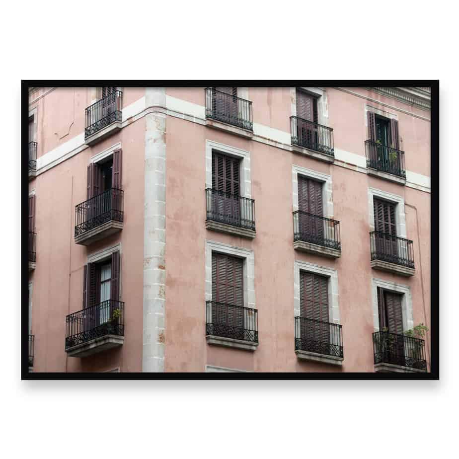 The Balconies Wall Art Print