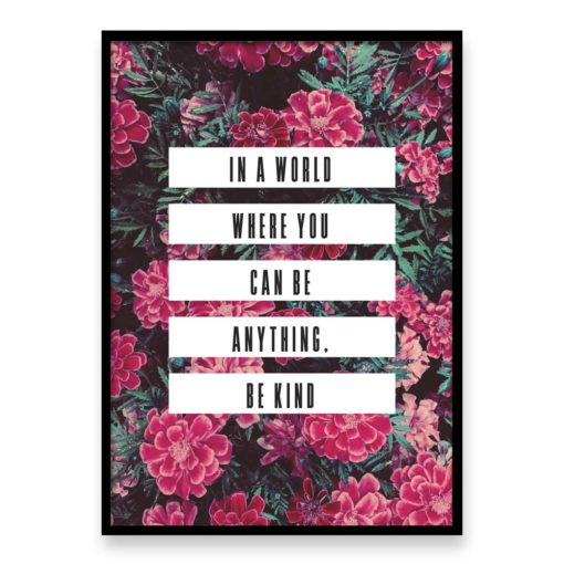 be kind quote wall art print