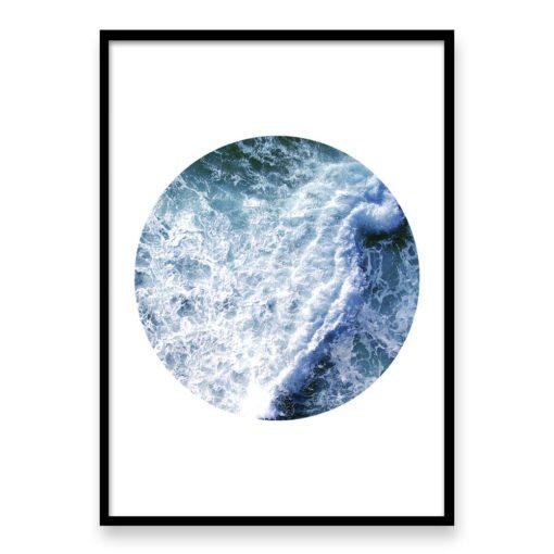 Ocean Wave Circle Wall Art Print