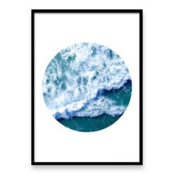 Ocean Wave Circle II Wall Art Print
