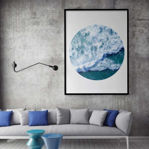 Ocean Wave Circle II Wall Art Print