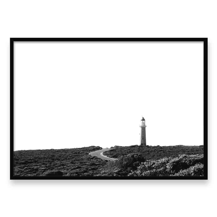 Cape Du Couedic Lighthouse LS Wall Art Print