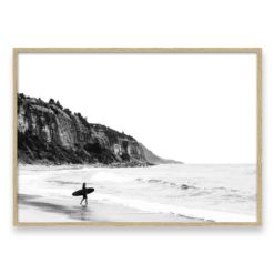 Surfer Heads Out 2 LS Wall Art Print