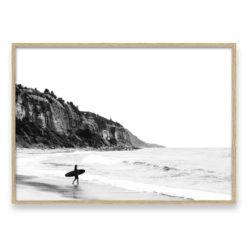 Surfer Heads Out 2 LS Wall Art Print