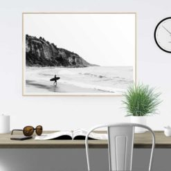 surfer heads out wall art print