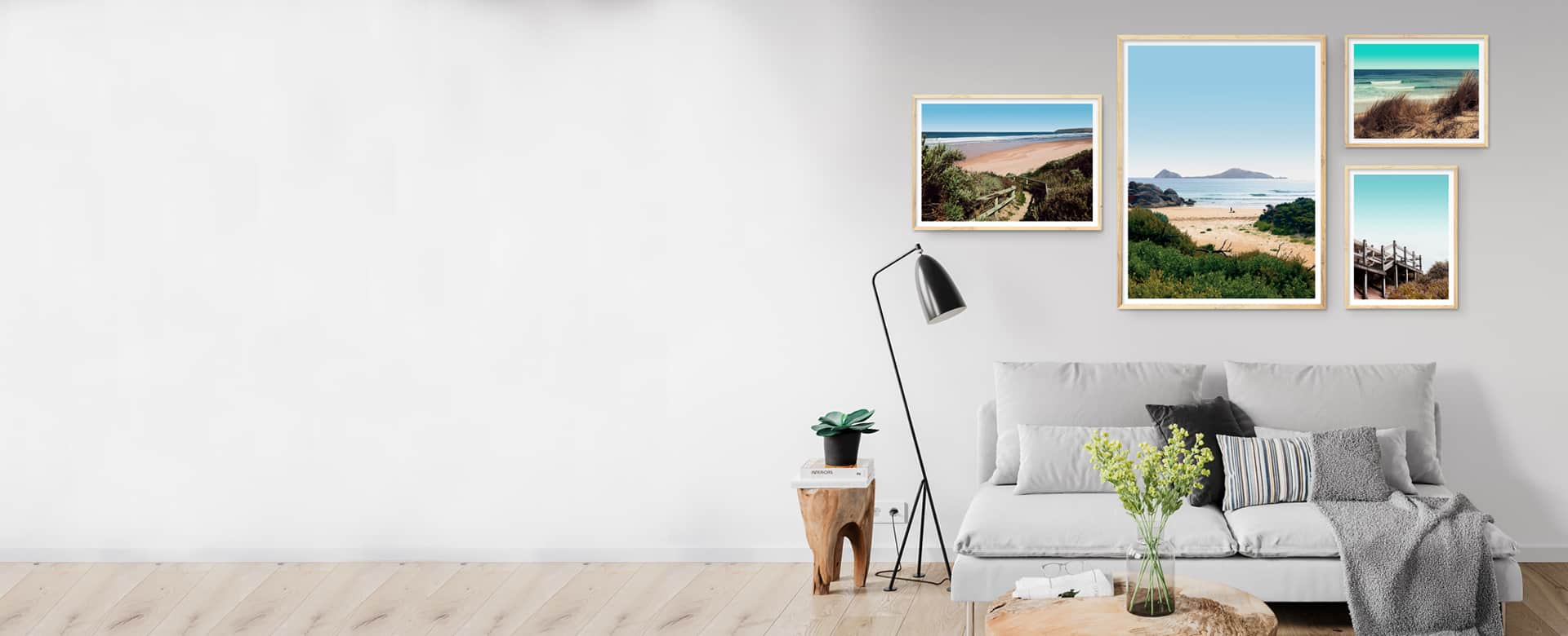 framed beach wall art prints collection