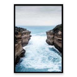 Between The Cliffs Wall Art Prints