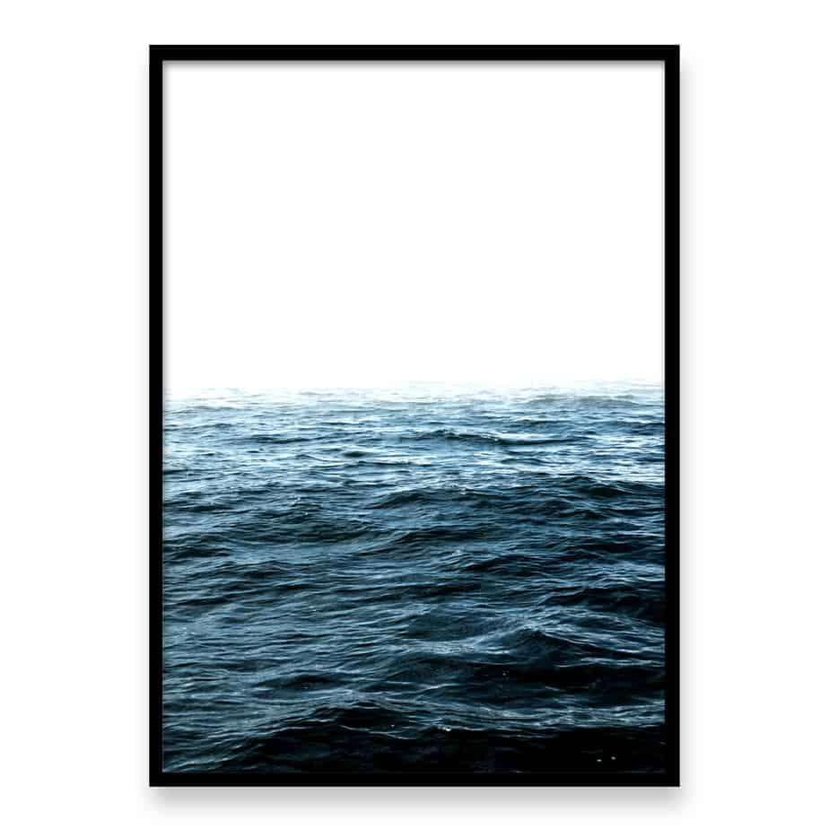 Dark Ocean Wall Art Print