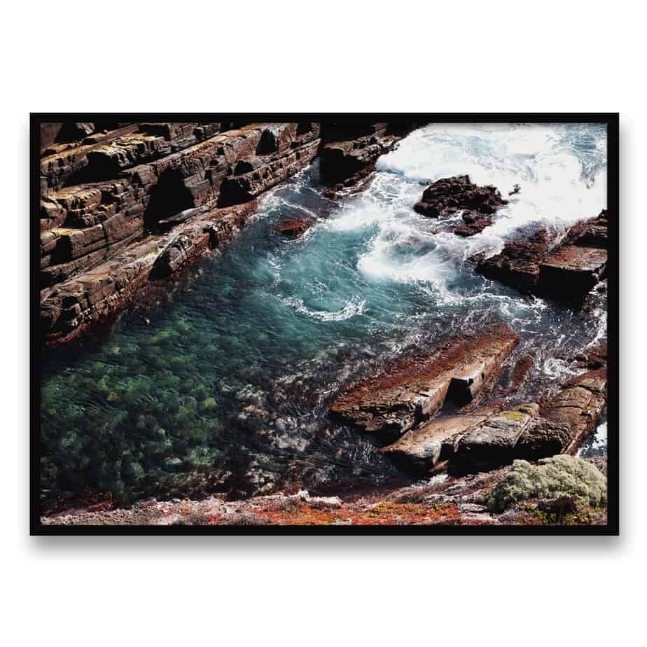 Rocky Waves Wall Art Print
