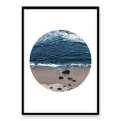 Beach Break Circle Wall Art Print