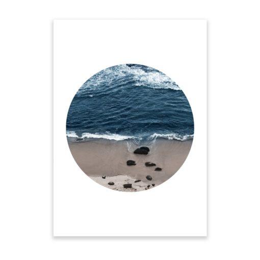 Beach Break Circle Wall Art Print