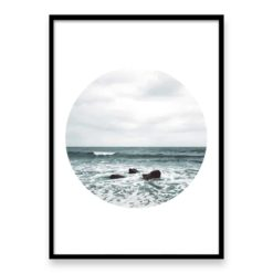 Beach Waves Circle Wall Art Print