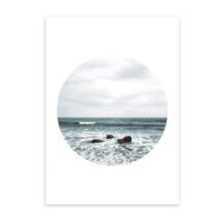 Beach Waves Circle Wall Art Print