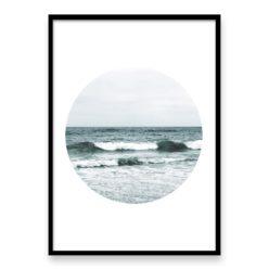 Beach Waves Circle II Wall Art Print